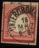D.R.Brustschildmarke Mit Stempel Untergrombach 16 MRZ (126) - Gebraucht