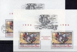 Spanien Brigade 1986 Maler Sychra CSSR Block 68 **/o 11€ Gemälde Bloc Ms History Painting Sheets Bf Tschechoslowakei CSR