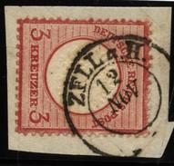 D.R.Brustschildmarke Mit Stempel Zell A.H (126) - Oblitérés
