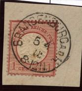 D.R.Brustschildmarke Mit Stempel Brandenburg A D H (126) - Oblitérés
