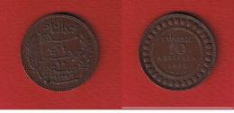 Tunisie  -  10 Centimes 1911  --  Km # 236 --  état  TTB - Tunisia