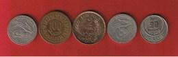 Tunisie  -  Lot De 5 Monnaies - Tunisia
