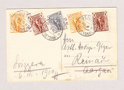 Griechenland KEPKYPA 22.2.1910 Ansichtskarte (Bild Corfou) Nach Reinach AG - 1906 Deuxième Jeux Olympiques