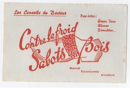 Buvard > Conseil Du Docteur Contre Le Froid / Sabots De Bois - Buvards, Protège-cahiers Illustrés