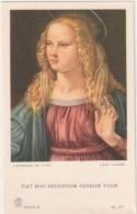 """SANTINO  HOLY CARD - """" MADONNA (di LEONARDO DA VINCI)""""  - Ediz: Pia Società S. Paolo - Foto Alinari - Serie A, N. 57 *** - Devotieprenten"""