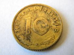 ALLEMAGNE - 10 REICHSPFENNIG 1939.F.