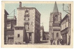 Cpa Périgneux-Marieux - Rue Principale Et église - France