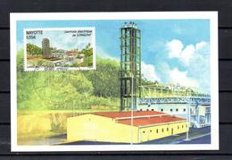MAYOTTE 2009 CARTE MAXIMUM TIMBRE N°220 CENTRALE ELECTRIQUE DE LONGONI