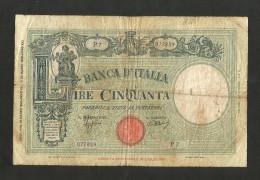 REGNO D´ ITALIA - 50 Lire Grande L (FASCIO) - Decr. 31/03/1943 - Firme: Azzolini / Urbini - 50 Lire