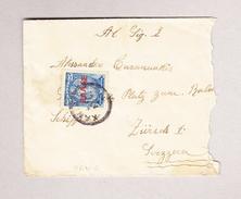 Kreta XANIA 4.?.1912 Brief Nach Zürich - Rechte Seite Grob Aufgerissen
