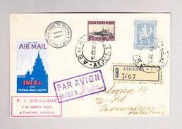 Griechenland ATHENES 15.1.1930 Luftpost R-Brief Nach Jerusalem Palestina AK-Stempel Gaza - Grèce