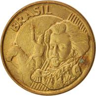 Brésil, 10 Centavos, 2013, TTB+, Bronze Plated Steel, KM:649.2 - Brésil