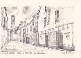 Carte 1970 PAR YVES DUCOURTIOUX/ SAINT ETIENNE DE MONTLUC / RUE DE LA PAIX - Saint Etienne De Montluc