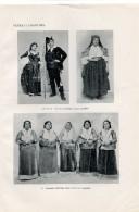 Costumi Contadini Di SPEZZANO ALBANESE Cosenza Calabria   -Tavola-Fotoincisione Inglese 1913 - Stampe & Incisioni