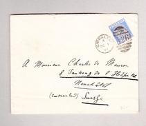 GIBRALTAR 1.10.1893 Brief Nach Neuchatel Mit 25c E.F. - Gibraltar