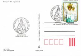 BR 1336 HONGARIJË  POSTKAART STEMPEL 16 AUGUSTUS 1991   ZIE SCANS - Fête Des Mères
