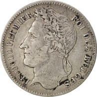 Belgique, Leopold I, 1/4 Franc, 1834, TB+, Argent, KM:8 - 1831-1865: Léopold I