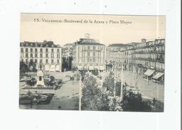 VALLADOLID 15 BOULEVARD DE LA ACERA Y PLAZA MAYOR - Valladolid
