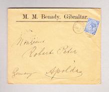 GIBRALTAR 8.10.1901 Brief Nach Apolda D - Gibraltar