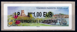 France, ATM Label,  Toul, Timbres Passion, 1€, 2016, MNH VF - 2010-... Illustrated Franking Labels