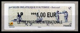 France, ATM Label,  Paris, Salon Philatélique D'Automne, 1€, 2016, MNH VF - 2010-... Illustrated Franking Labels