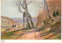 Paul Hey, Kreuz Am Wege, Art Painting Postcard Unposted - Peintures & Tableaux