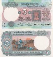 India - 5 Rupees 1975-1985 Pick 80g W/holes UNC Lemberg-Zp - India