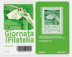 TESSERA  FILATELICA 2014   GIORNATA DELLA FILATELIA    BARRE 7316 - 6. 1946-.. Repubblica