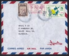 Guatemala: Airmail Cover To Germany, 1973, 3 Stamps, Telecommunication Union ITU, National History (minor Creases) - Guatemala