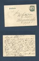 German Col-Camerun. 1910 (6 Sept) Toppo - Germany, Wilmersdorf. 5 Pf Green Stat Card, Buea, Cds. Interesting Text. Co... - Non Classés