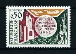 Francia  Nº Yvert  1334b (sin Polo Sur)  VARIEDAD  En Nuevo - Curiosidades: 1960-69  Nuevos