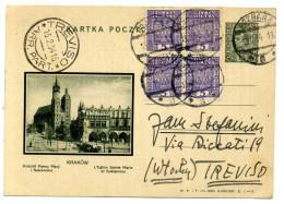 1934 POLONIA INTERI POSTALI 15gr. POCZTA POLSKA // PER TREVISO - Ganzsachen