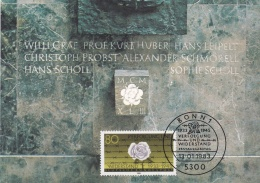 Germany Maxicard 1983 Verfolgung Und Widerstand (T1-39) - [7] Repubblica Federale