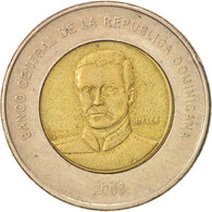 Dominican Republic, 10 Pesos, 2008, TTB+, Bi-Metallic, KM:106 - Dominicana