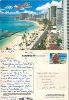 Waikiki, Honolulu, Hawaii, United States US Postcard Posted 1994 Stamp - Honolulu