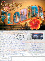 Greetings From, Florida, United States US Postcard Posted 2009 Stamp - Non Classés