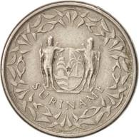 Surinam, 25 Cents, 1987, TTB+, Nickel Plated Steel, KM:14A - Surinam 1975 - ...
