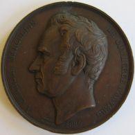 M05140 CHARLES MARCELLIS - COMMERCE D'ANVERS  1854 - Son Profil (102g) Couverture Bourse D'Anvers Au Revers - Wiener  D - Professionnels / De Société