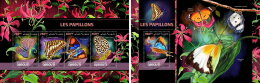 DJIBOUTI 2016 ** Butterflies Schmetterlinge Papillons M/S+S/S - OFFICIAL ISSUE - A1648 - Butterflies
