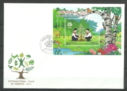2011 Int. Year Of Forest S/S FDC  NKO Y.T. BF 606  ** - Korea, North
