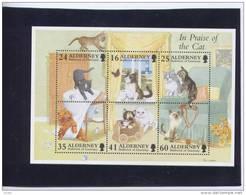 Alderney Aurigny 1996 Yvertn°  Bloc 2 *** MNH Cote 11 Euro Chats Katten Cats - Alderney