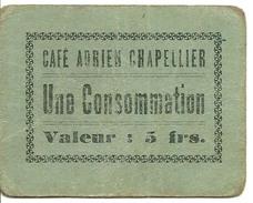 Saint Mard  Jeton De Café Adrien Chapellier Café Du Midi Une Consommation Valeur 5 Frs - Autres Collections