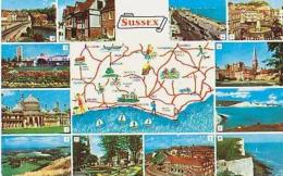 Angleterre        342        Sussex.Contour Géographique , 12 Vues - Other