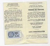 Monaco: Permis De Travail 1980, Monte Carlo Music, Fiscal 1F - Unclassified
