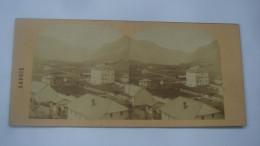 CHAMONIX  LA VALLEE COTE DE SALLANCHES - Cartoline Stereoscopiche