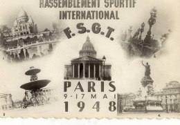 CPSMPF (sport) Rassemblement Sportif International F.S.G.T.  PARIS 9-17 Mai 1948  (b Bureau) - Olympic Games