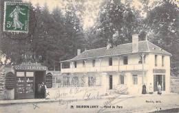 71 - BOURBON LANCY : Hotel Du Parc ( Et Salon De Coiffure ) CPA - Saône Et Loire - Autres Communes