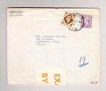 GB LONDON 7.2.1944 FS Zensur Brief Nach USA - 1902-1951 (Rois)