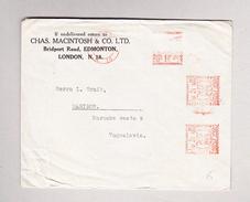 GB LONDON 17.9.1936 Maschinenstempel Brief Nach Yugoslawien - Poststempel - Freistempel