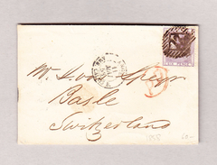 GB LONDON 10.5.1958 Brief Nach Basel Via Calais Und Paris - 1840-1901 (Victoria)